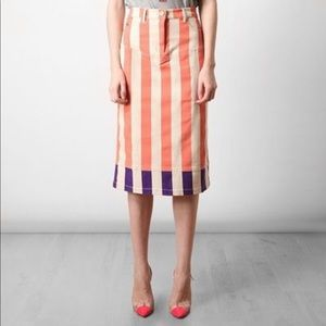 House of Holland striped skirt